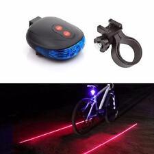 2 Laser+5 LED-Blitzlampe Rücklicht Fahrrad Fahrrad Trail Sicherheits Licht Blau