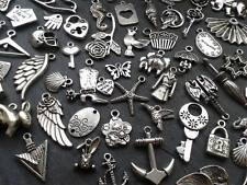 30g Antique Silver Charm Mix Steampunk Vintage Pendants Kitsch
