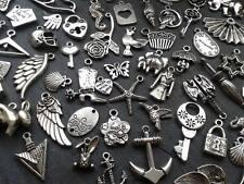 30g Antique Silver Charm Mix Steampunk Vintage Pendants Kitsch