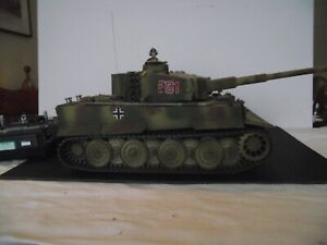 Tamiya 1/16 Tiger I R/C Tank, full sound version, good condition, transmitter