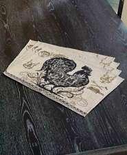 Agrarian French Country Rooster Tapestry Placemats Farmhouse Rooster 4 Placemats