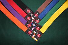 "KANKU Martial Arts 1-1/2"" Wide Double Wrap Karate Belt Taekwondo Belt all Color"
