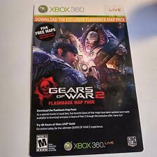 (DLC ADD-ON ONLY) Gears of War 2 FLASHBACK MAP PACK 5 MAPS (XBOX 360) #2099