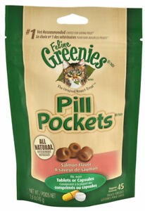 Greenies Pill Pockets for cat Perfect for concealing pills Salmon 45ct