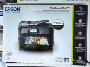 "New Epson WorkForce WF-7720 Inkjet Printer 19"" Wide FormatIn Hand FAST SHIP"