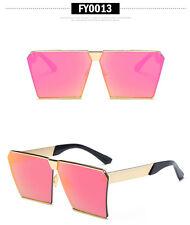 Oversized Aviator Sunglasses Flat Top Square Vintage Retro Fashion Men Women