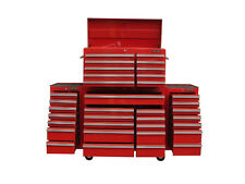 "29 US PRO Tools Red Tool Chest Box Snap It Up 2 side cabinet 75"" Finance option!"