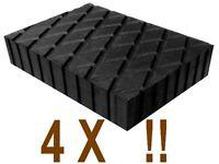 4 X bloc de caoutchouc 160x120x40 mm. pour Pont elevateur - tampons - Italie