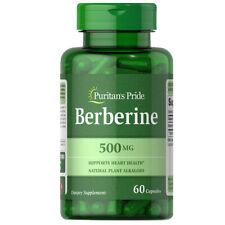 Berberine 500 mg 60 Caps Puritan (Berberis aristata Berberine HCL)