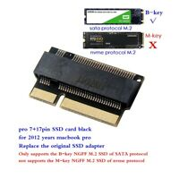 M.2 NGFF B Key SSD to Compatible for MacBook Pro Retina 2012 A1398 A1425 Adapter