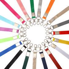 Multi Color Nylon Neck LANYARD ID Lanyard Keychain Key ID Cell Phone Holder