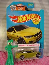Case P 2015 Hot Wheels BMW M4 #24∞Gold-Green;pr5 ∞HW City ∞Street Power