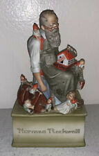 Vintage Norman Rockwell Christmas Toymaker Musical Figurine Tested Works