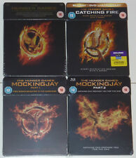 THE HUNGER GAMES 1-4 BLU-RAY STEELBOOK IM SET NEU & OVP SEALED TRIBUTE VON PANEM