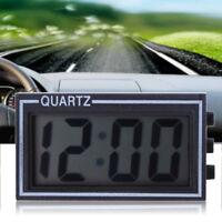 Selbstklebende Mini Digital LCD PKW Uhr Alarm Datum Zeit Motorrad Uhr schwarz