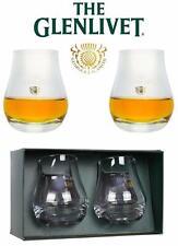The Glenlivet Scotch Whiskey Glass Tumbler Sniffer Set of 2 Glasses