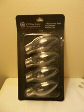 GE Replacement C9 Bulbs Pack of 4 Clear 7 Watt Base Cool Bright Candelabra
