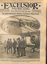 Général Joffre Lieutenant Guynemer SPAD S.VII Escadrille des Cigognes WWI 1916