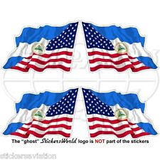 USA United States America-NICARAGUA Nicaraguan Flying Flag 50mm Sticker Decal x4