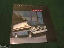 MINT 1985 CHEVROLET CHEVY VAN TRUCK SALES BROCHURE G10 G20 G30 (BOX 548)