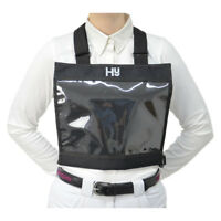 Hy Number Bib - Black- Competition, Event, Show, Cross Country. Free P&P