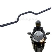 "Universal 1"" Inch Motorcycle Black  Handlebar Drag Z Bar Custom For Harley Honda"
