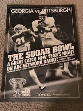 Vintage 1982 SUGAR BOWL Print Ad GEORGIA BULLDOGS vs PITT PANTHERS RARE