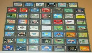 Lot of 55 Nintendo Game Boy Advance Games Fast Shipping! Wholesale Lot!