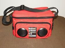 Picnic Boat Red Beer Soda Drinks Cooler Bag With Speakers New Unused