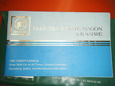 1985 BUICK ELECTRA ESTATE WAGON LE SABRE FACTORY OPERATORS OWNERS MANUAL
