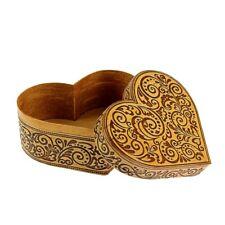 Boite à bijoux original en bois - boite Coeur - Artisanat russe Boite en écorce