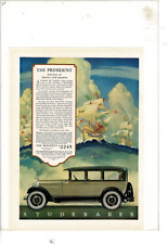 Vintage 1927 Studebaker The President Big Six Sedan 4-Door Ad Print E315