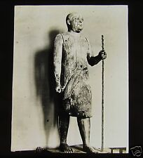 Glass Magic lantern slide WOODEN STATUE OF CHIEF FOUDI C1890 L58