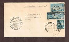 "US 1936 Zeppelin Mail to Germany Via Airship ""Hindenburg"" 40 cent Airmail Rate"