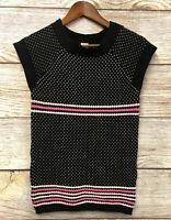Gymboree Sweater Dress Girls Size Large 10/12 Black Heart Sweater Dress New