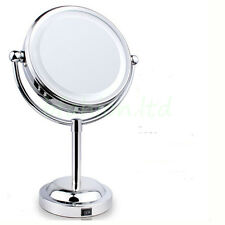 Round Magnifying LED Lighted Vanity Mirror Make Up Cosmetic Bathroom Shaving