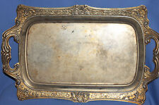Vintage ornate metal serving tray