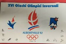FOLDER BUSTE PRIMO GIORNO FDC XVI GIOCHI OLIMPICI INVERNALI ALBERTVILLE 1992