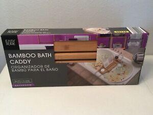 EASY HOME Bamboo Bath Caddy. Bathtub. Never Used.