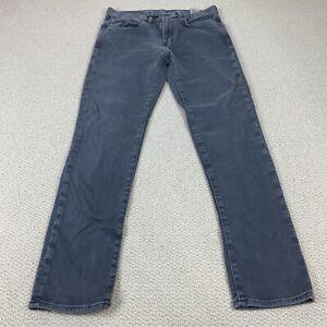 Banana Republic The Traveler Mens 31x32 Slim Fit Gray Stretch Denim Pants Jeans
