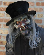 Ring Master Undead Adult Halloween Mask & Top Hat Mouth Moves with Your Jaw