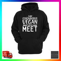 Corona Vegan Avoid Meet Hoodie Hoody Social Distancing Isolate  Meat Funny
