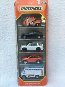 MATCHBOX - Five Pack - City Adventure 2 - With Mercedes, Honda & Cadillac - NEW