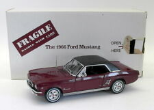 Danbury Mint Diecast Escala 1/24 - 195-029 1966 Ford Mustang Convertible Rojo Oscuro