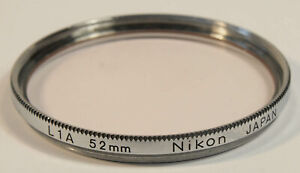 NIKON Chrome 52mm L1A Screw-Mounted Filter, Case with NKT Logo
