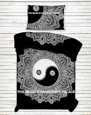 Indian Yin Yang Mandala Duvet Covers Cotton Reversible Quilt Cover Ethnic Throw