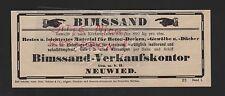 Neuwied, visualización 1909, bimssand-verkaufskontor GmbH