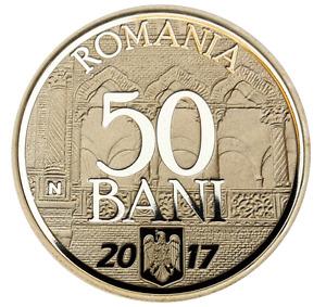 ROMANIA 50 bani 2017 coin ROMANIAN 10 year Joining European UNION Rumänien PROOF