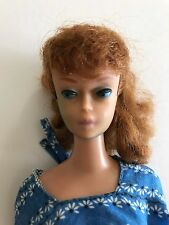 Vintage Barbie Doll Redhead Ponytail BARBIE with Original Dress 1960's
