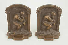 The Thinker Bookends Rodin (CB0) Solid Brass/Bronze Version